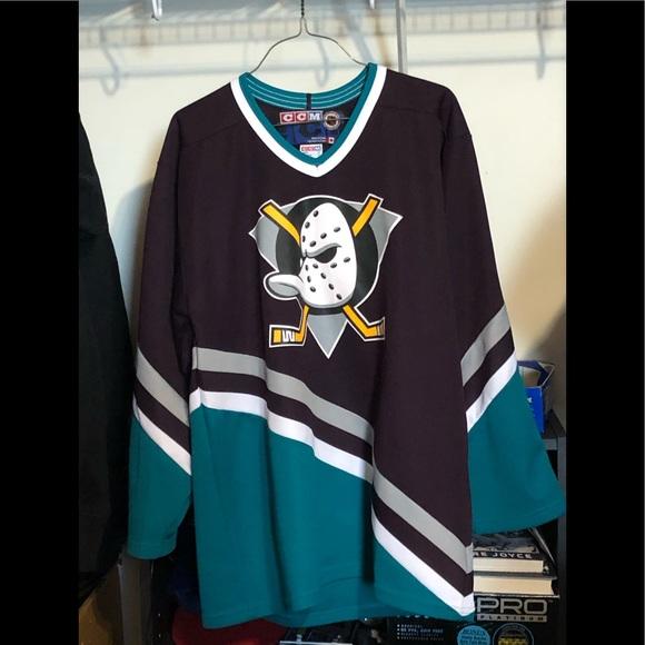 Retro Anaheim Mighty Ducks jersey mens medium